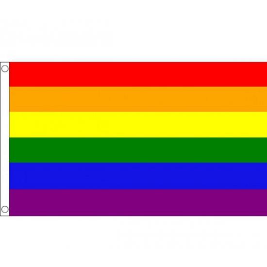 Regenboog mega vlag 150 x 240 cm