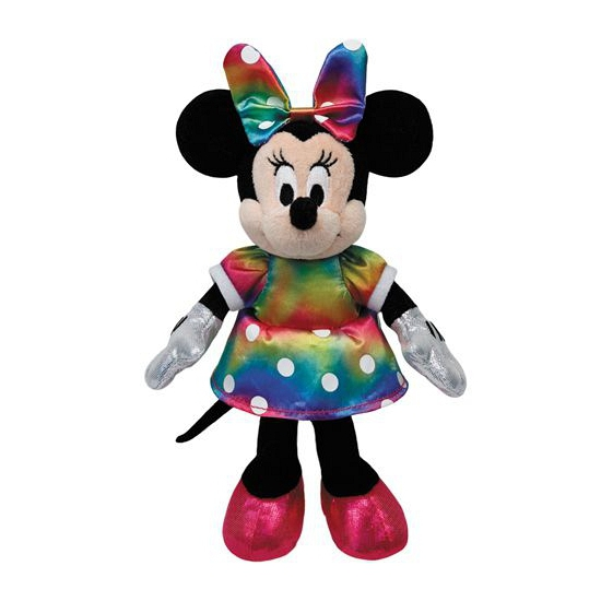 Regenboog Minnie Mouse Disney knuffel 20cm