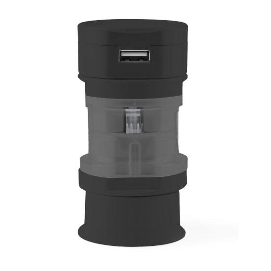 Reis USB poort stekker zwart