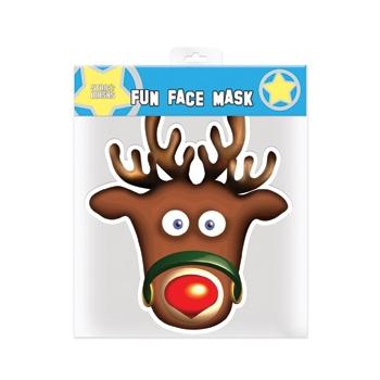 Rendier masker van papier
