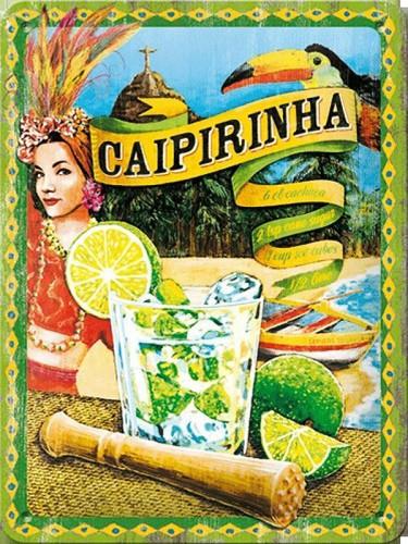 Retro muurplaatje Caipirinha 15 x 20 cm