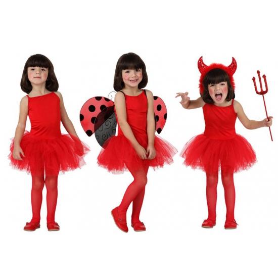 Rode ballet verkleedkleding voor meisjes