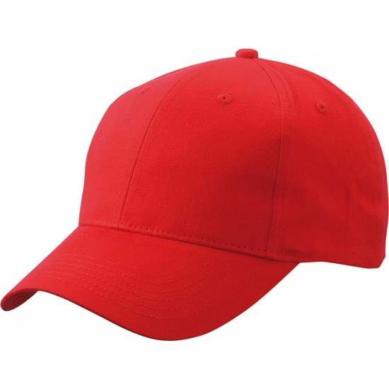 Rode baseball cap van katoen