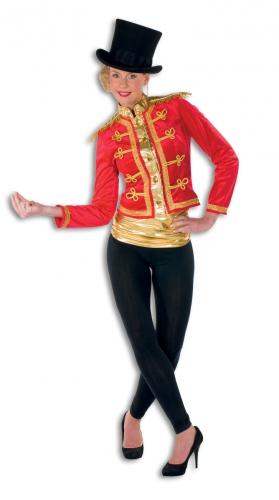 Rode circus jasje met gouden accenten