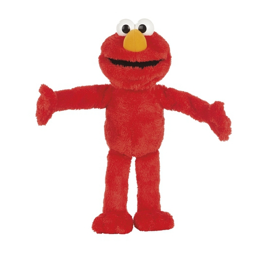 Rode Elmo knuffel 55 cm
