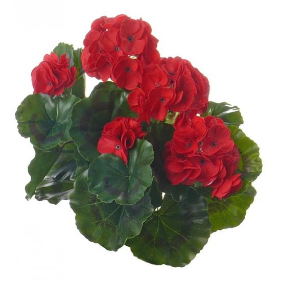 Rode Franse Geranium kunstbloem