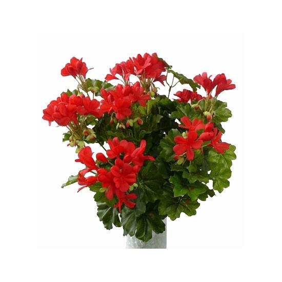 Rode kunst geranium plant 40 cm