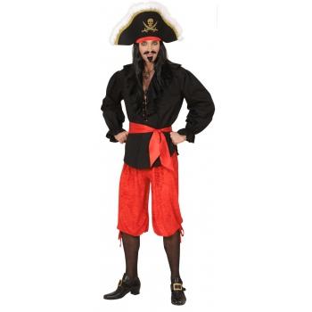 Rode piraat broek van velours