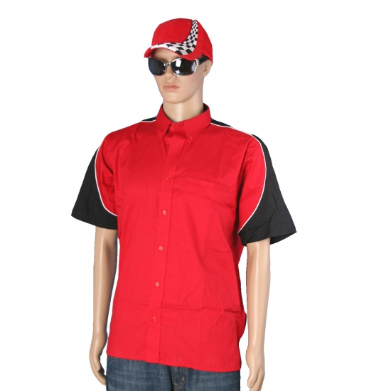 Rode race coureur shirt met pet maat L