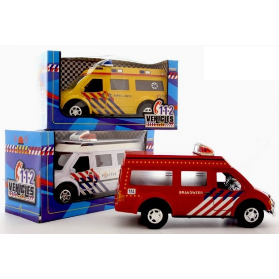 Rode speelgoed brandweerauto