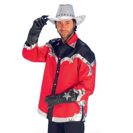 Rodeo cowboy overhemd voor heren