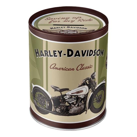 Ronde spaarpot Harley Davidson American Classic 13 cm