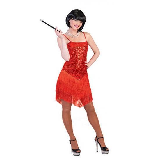 Rood jaren 20 jurkje voor dames