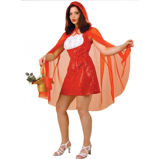 Roodkapje verkleed jurkje met cape