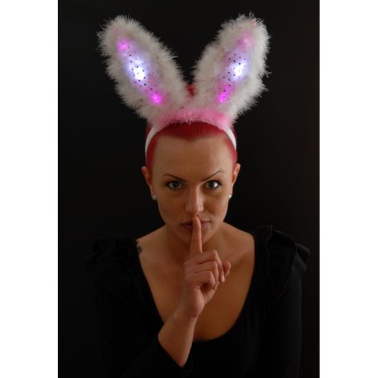 Roze bunny oren lichtgevend