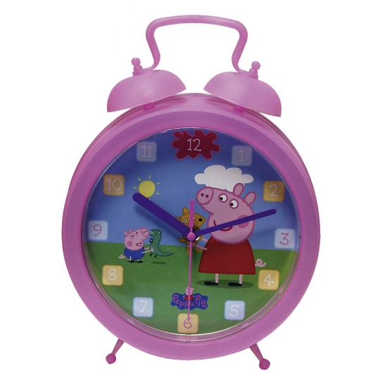 Roze kinderkamer wekker van Peppa