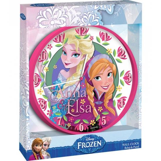 Roze klok van Elsa en Anna uit Frozen