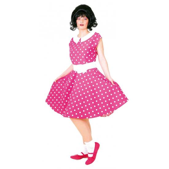 Roze met wit jaren 50 jurkje