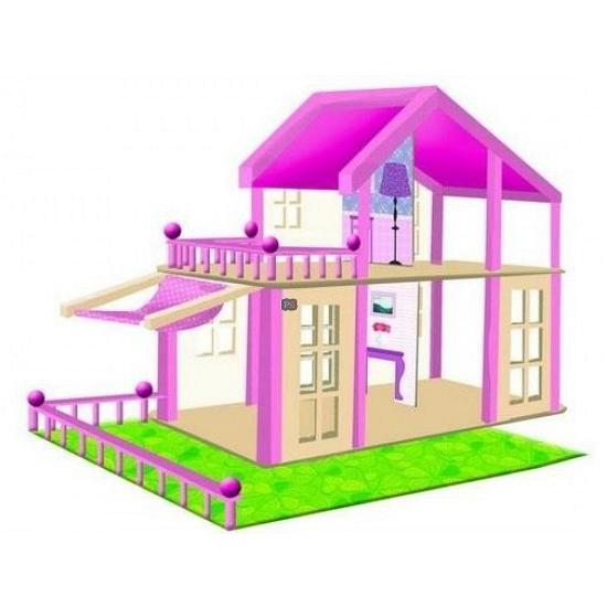Roze poppenhuis Britta van hout