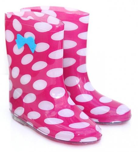 Roze regenlaarzen voor meisjes