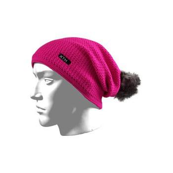 Roze wintermuts met pompon
