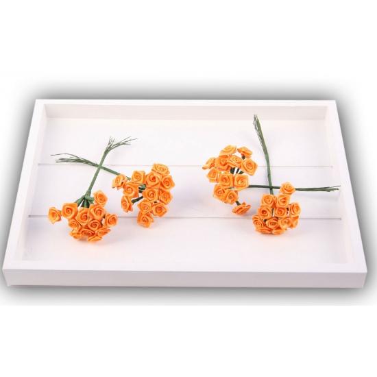 Rozen van satijn oranje 12 cm