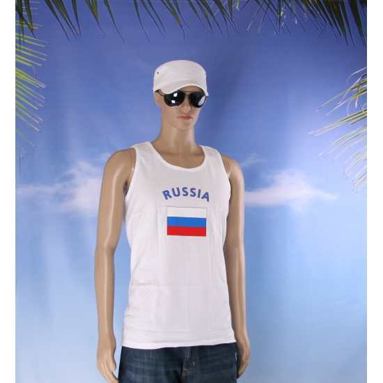 Rusland vlaggen tanktop/ t shirt