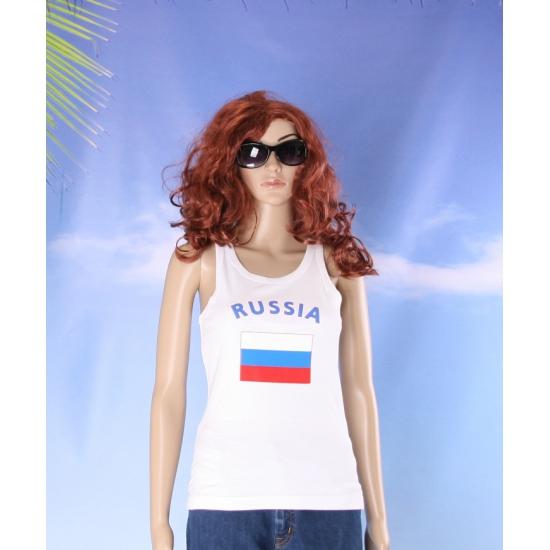 Russische vlag tanktop/ singlet voor dames
