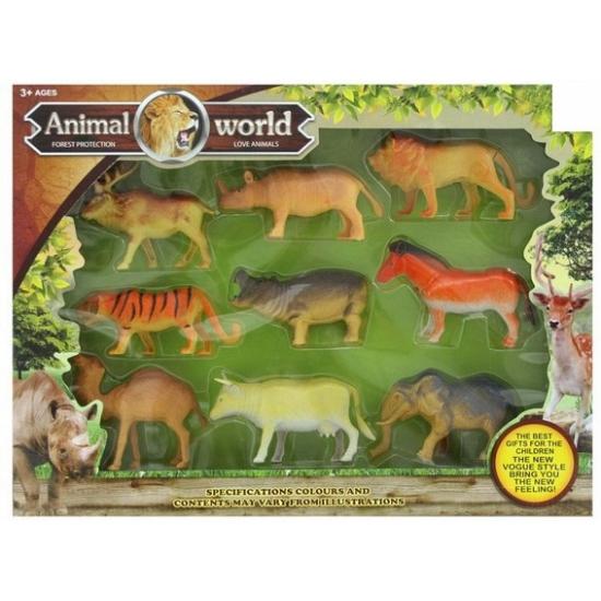 Safari dieren speel pakketje 9 stuks