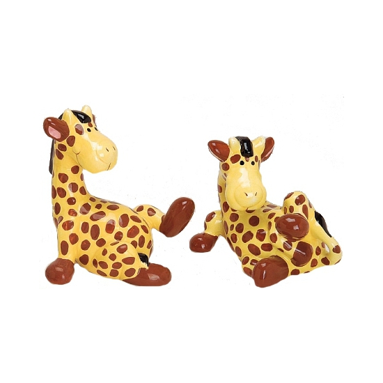 Schattige giraf spaarpot 18 cm