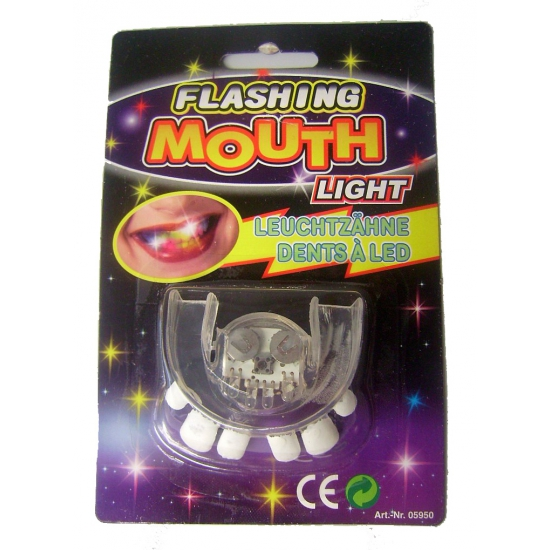 Scheve tanden gebitje met LED verlichting