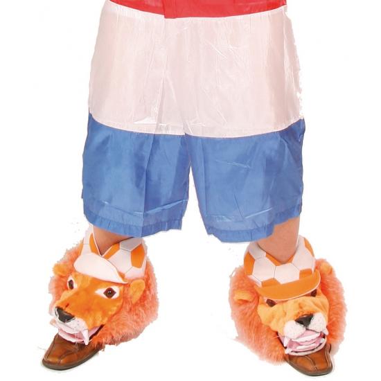 Schoenhoezen met leeuw