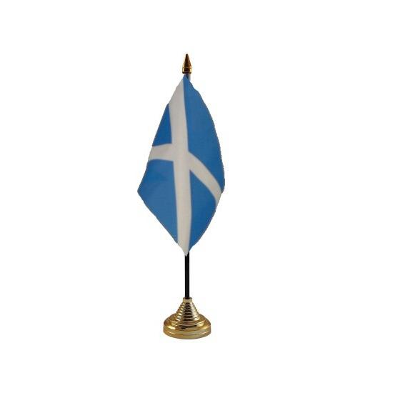 Schotland vlag met standaard
