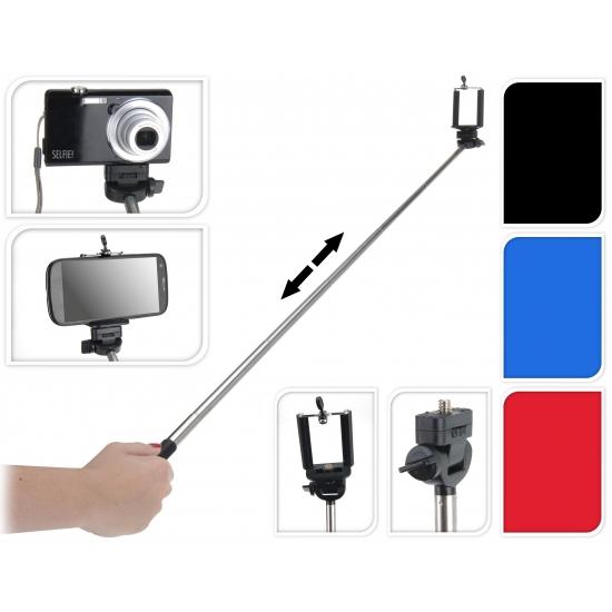 Selfie stick met camera houder