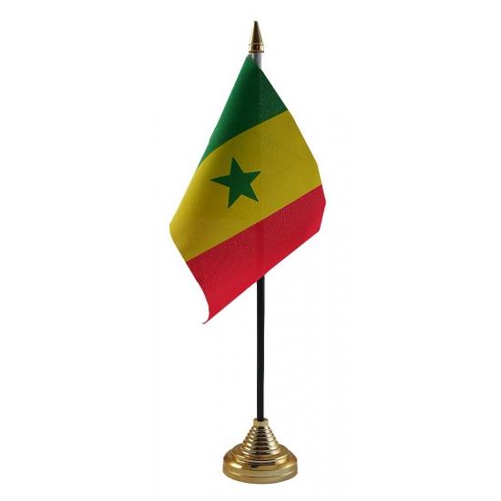Senegal vlag met standaard