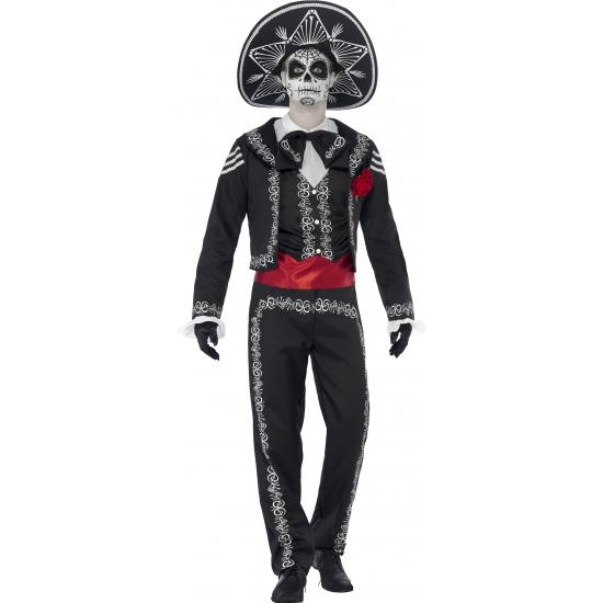 Senor Bones kostuum voor heren