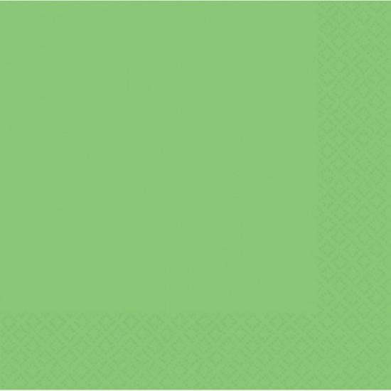 Servetten 20 stuks fel groen 30 x 30 cm