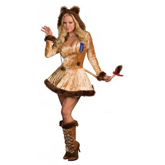 Sexy leeuwin jurk voor dames