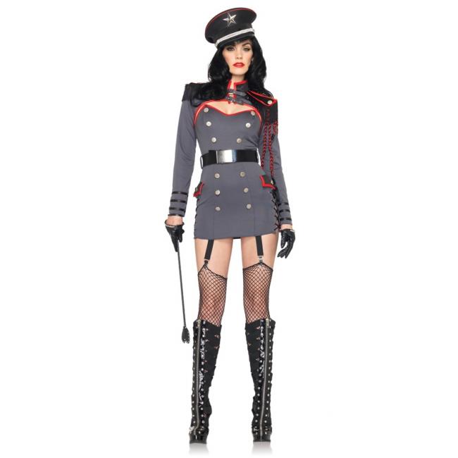 Sexy leger kostuum voor dames generaal
