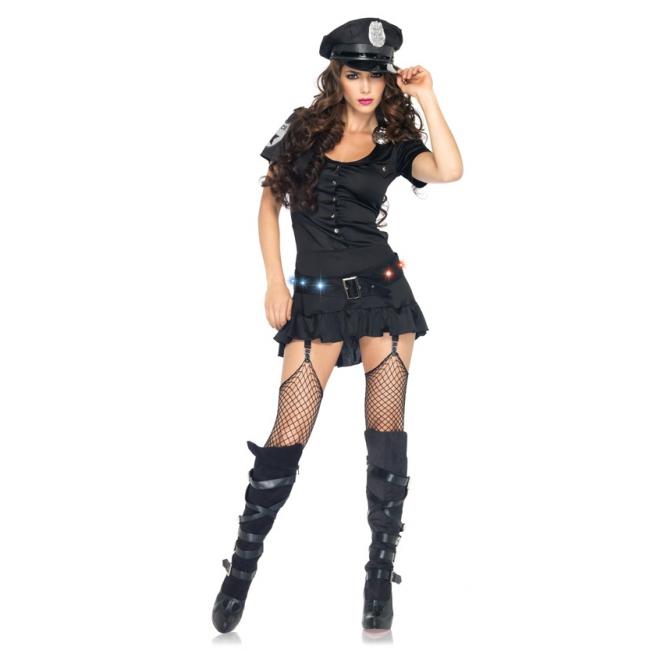 Sexy politie jurkje met accessoires