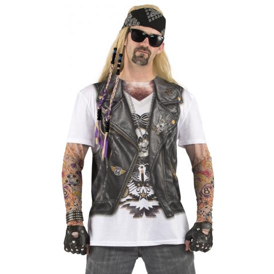 Sexy shirt met biker opdruk voor heren