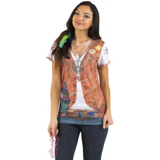 Sexy shirt met hippie opdruk voor dames