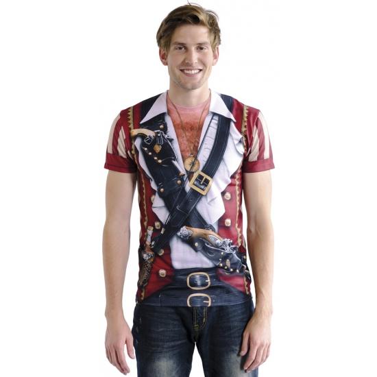 Shirt met piraten shirt opdruk