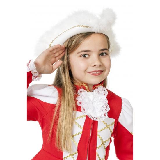 Showdans hoedje voor meiden wit