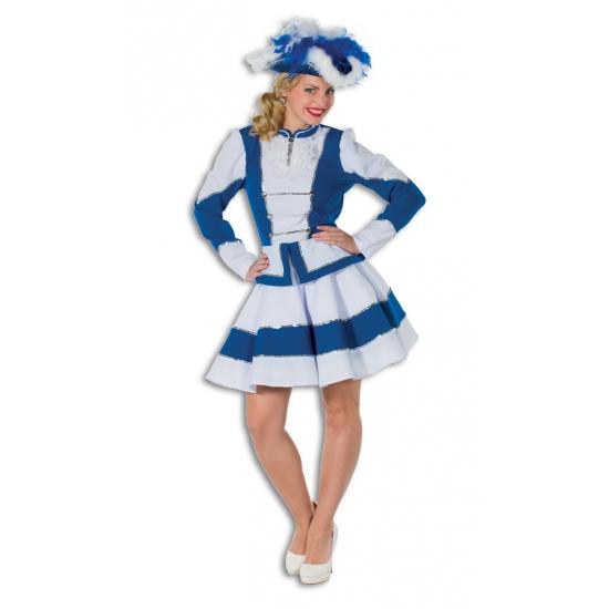 Showdans pakje voor dames blauw met wit