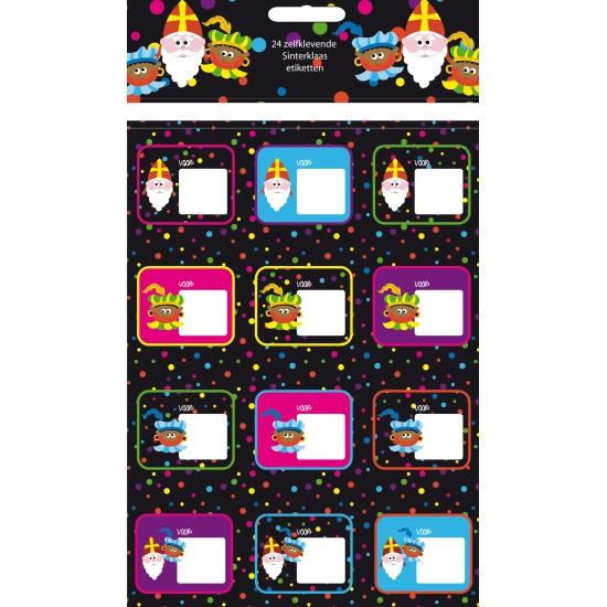 Sinterklaas kado stickers 24 stuks