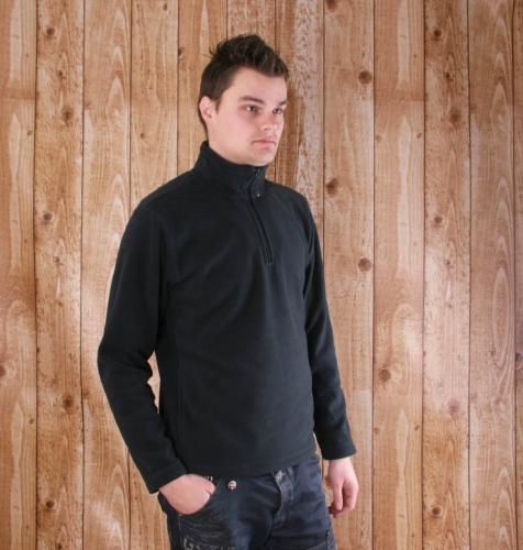 Ski fleece trui voor heren met ritskraag