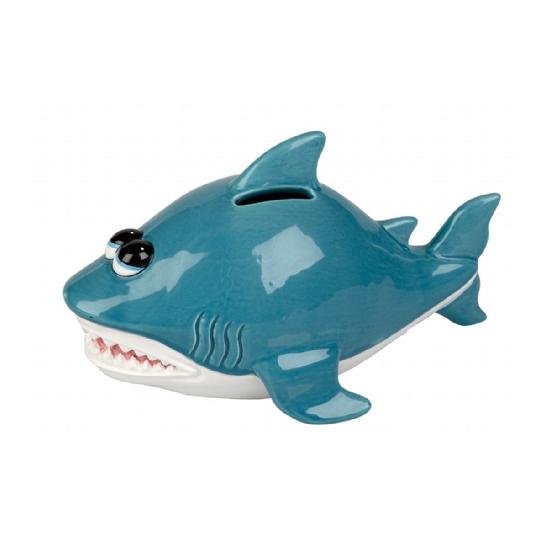 Spaarpot blauwe haai 20 cm