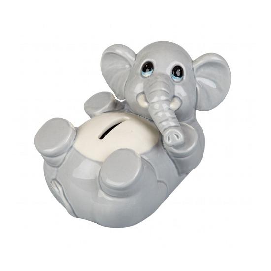 Spaarpot grijze olifant 15 cm