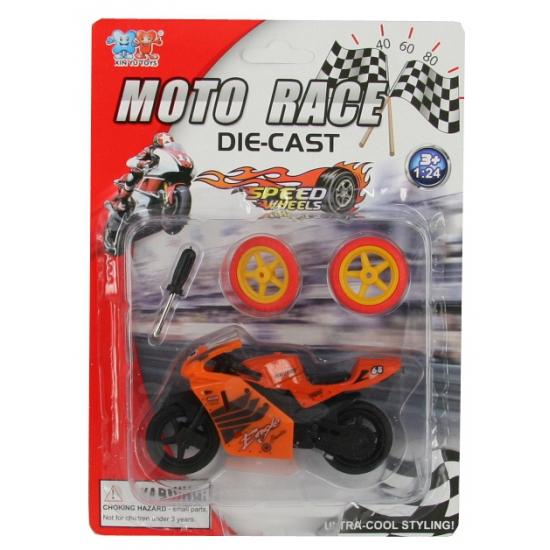 Speel motorfiets oranje